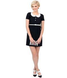 1960s Style #Mod Black & White Annie Dress #uniquevintage