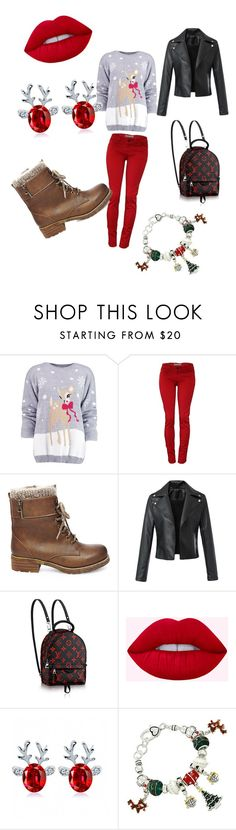 """""""roudolph the fashionable reindeer"""" by eviebanker on Polyvore featuring Boohoo and Steve Madden"""