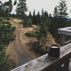 coffee on chilly cabin mornings