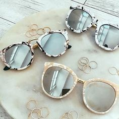 ⭐️Marble Sunglasses⭐️ New. Marble trim sunglasses super cute and trendy. Brandy Melville Accessories Sunglasses