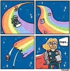 Thor you broke rainbow road! // ajjajajajajajajaj