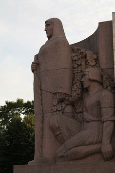 A part of the Monument of Freedom. Riga