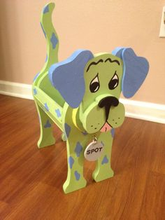 Wooden Animal Planter  Dalmatian