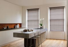 Venetian Blinds come in a range of styles and colours to suit any decorative scheme, including luxury timber and contemporary aluminium.
