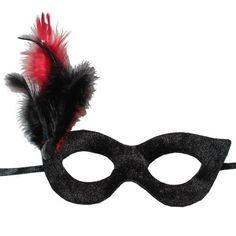 Siyah Tüylü Parti Maskesi