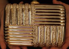 This Judith Leiber minaudiere is exquisite and elegant. A full bead encrusted minaudiere, inspired by the ART-DECO ERA, artfully blends art and utility. Judith Leiber creates some of the most beautifully crafted evening bags. | eBay!