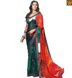 SPLENDID DESIGNER PRINTED SAREE WITH MATCHING BLOUSE PIECE RTMAS12704 – Stylish Bazaar
