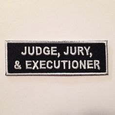 Image result for judge jury executioner
