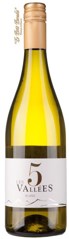 Les 5 Vallées Blanc from France This blend of Grenache Blanc, Chenin, Mauzac, Chasan, Vermentino and Sauvignon Blanc is a vibrantly fruity, fresh and well balanced white wine with tropical fruit and acacia honey flavours.