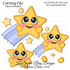 Welcome to Kadoodle Bug Designs! PTC Shooting Star Cutie - Print Then Cut Clipart comes in PNG format. Original Artwork by Melissa Deuss Hobbies That Make Money, Math Art, Baby Svg, Tole Painting, Doodle Drawings, Shooting Stars, Digi Stamps, Christmas Wrapping, Xmas Crafts