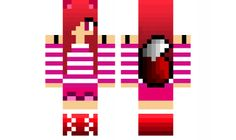 Minecraft skin for Girls Candy Cane Fox