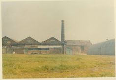 Bata Derbyshire & Blackburn Adlington Textile Mill Chorley Lancashire, view of mill factory, chimney and boiler house c1980, photo courtesy Charles Novotny Family Archive, we have more photos of the looms and employees of this mill, contact BRRC or see website
