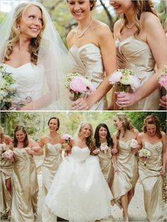 #gold bridesmaids dresses... Wedding ideas for brides, grooms, parents & planners ... https://itunes.apple.com/us/app/the-gold-wedding-planner/id498112599?ls=1=8 … plus how to organise an entire wedding, without overspending ♥ The Gold Wedding Planner iPhone App ♥