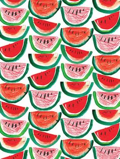 Watermelon Greetings Card by LauraAHughes on Etsy