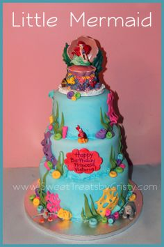 Little Mermaid Cake (by Sweet Treats by Cristy)  i would love to have this cake