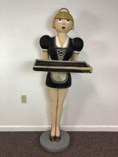 Bombay Co Emma French Maid Server Statue W Tray 3 Feet