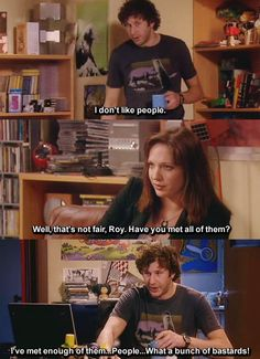 The IT Crowd - Roy Trenneman and Jen Barber - quote - screencap