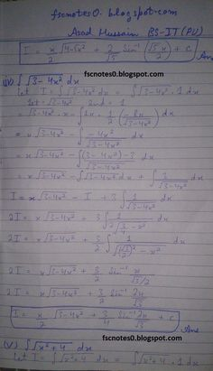 F ics notes physics xi chapter 8 waves numerical problems asad fsc ics notes math part 2 chapter 3 integration exercise 34 question 4 by asad hussain publicscrutiny Gallery