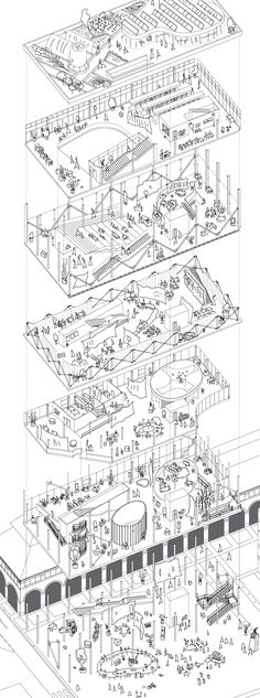 Paris Market Lab | Gorka Beitia Zarandona | Archinect Vertical circulation (y)