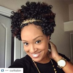"Crown your 10"" curls! (Saniya, Carrie, Toni Curl Combo) #curlkalon #curlcocktail #protectivestyles #crochetbraids"