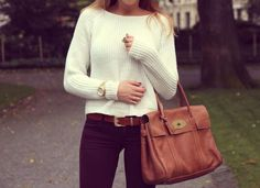 fall outfit.. Love the bag