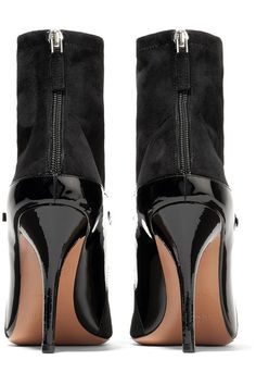 Givenchy - New Feminine Patent-leather And Stretch-suede Sock Boots - Black