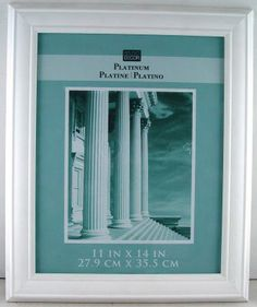 Platinum Collection 11in x 14in White Vintage Frame