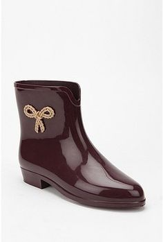Mel by Melissa Shoes Side Bow Rain Boot - StyleSays - perfect for rainy Amsterdam!