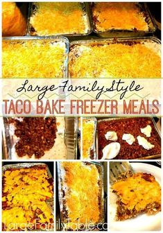 Budget Freezer Meals, Freezer Cooking, Frugal Meals, Budget Recipes, Freezer Dinner, Freezer Recipes, Large Family Meals, Large Families, Planning Budget