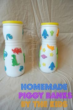 69 Ideas Bird Feeders Homemade Plastic Flower Pots For 2019 Daycare Crafts, Preschool Crafts, Valentines For Kids, Valentine Day Crafts, Homemade Piggy Banks, Diy For Kids, Crafts For Kids, Help Kids, Toddler Arts And Crafts