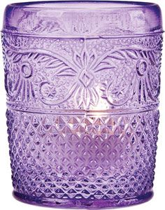 A new take on Depression Glass. Embossed glass candle holder, suitable for tea lights. #candleholders