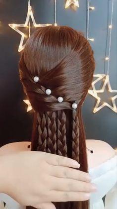 Braided Hairstyles, Cool Hairstyles, Wedding Hairstyles, Popular Hairstyles, Hairstyle Ideas, Middle Hairstyles, Curly Hair Styles, Natural Hair Styles, Hair Videos