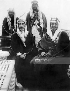 Faisal I*20.05.1885-+King of Iraq 1921-1933Peace treaty between Ibn... News Photo | Getty Images