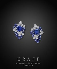 Graff Diamonds: Sapphire and Diamond Earrings
