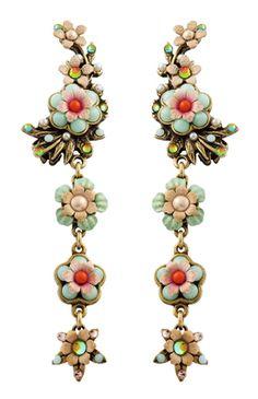 Michal Negrin Jewelry  Clip On Flower  Earrings