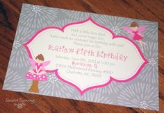 Fairy Birthday Party Invitations. $30.00, via Etsy.