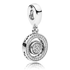 PANDORA logo silver spinning dangle - Charms