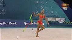 Kseniya Moustafaeva, Ribbon, European Championships 2014