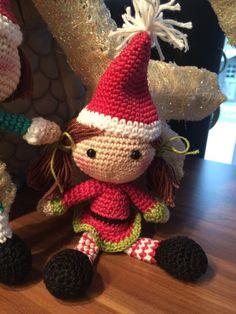 """Weihnachts-Elfen-Mädchen ... Anleitung aus dem Buch """" Liebevolle Häkelideen zu Weihnachten"""""""