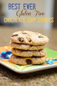 BEST EVER #glutenfree Chocolate Chip Cookies! #pinterestfoodie