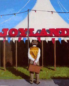 "Alistair Little, 'Joyland' (Oil on panel, 10"" x 8"") http://www.panterandhall.com/Scottish-Show-2014-Gallery.aspx"