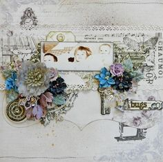 Erin Blegen: My Scrap Cabin: Created with the April kit from C'est Magnifique, featuring papers from Pion Design.