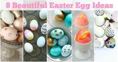 8 BEAUTIFULLY DECORATED EASTER EGGS