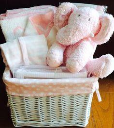 Ellie Elephant Baby Basket