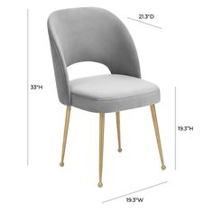 White Gloss Dining Table, Grey Velvet Chair, Dining Chairs, Dining Room, Midcentury Modern, 3 D, Upholstery, Glam Style, Steel Frame