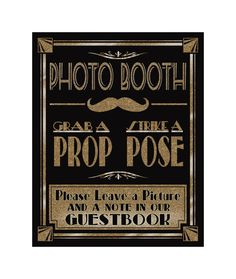 Printable Photo Booth Art Deco/Great Gatsby/1920's by PSPrintables, $3.00