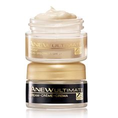 Up to a 2-WEEK SUPPLY! See deep wrinkles and age spots visibly improve. Smoothes skin texture and improves skin tone. Lighter formula, and softer scent.  Anew Ultimate 7S – Addresses early signs of aging. Visibly revitalizes and makes skin look smoother. Duo includes:Day Revitalizing Cream SPF 25.5 oz. net wt. A $12 value.Night Revitalizing Cream.5 oz. net wt. A $12 value.
