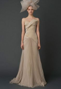 Utterly Gorgeous Coloured Gowns for the Unconventional Bride Vera Wang Spring 2012