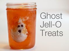 Ghost Jell-O Treats