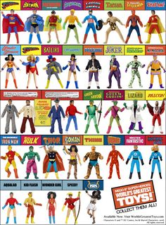 Mego: World's Greatest Super Heroes  best 70s-80s action figure toy line!!!